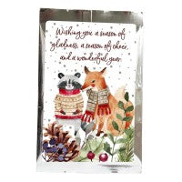 Fox & Racoon Tea Greeting Card