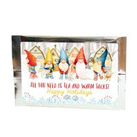 Winter Gnomes Tea Greeting Card