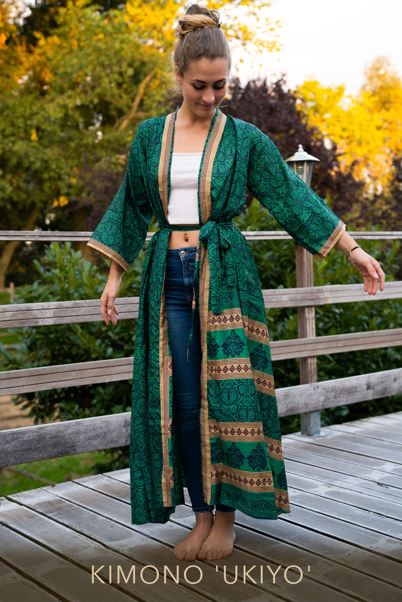 Ethical fashion, Mamma Nomad kimono made out of recycled fabrics