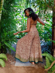 Hippie Pants made from recycled fabrics. Mamma Nomad: Sustainable yet Affordable clothing.