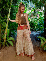 Mamma Nomad keeps ethical values and the environment in mind while she creates. These Beautiful Bohemian chic pants are made from Eco friendly material. Yet it is affordable fashion.