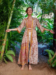 Mamma Nomad creates affordable fashion with ethical values in mind. Beautiful boho chic Kimono made from eco friendly material.