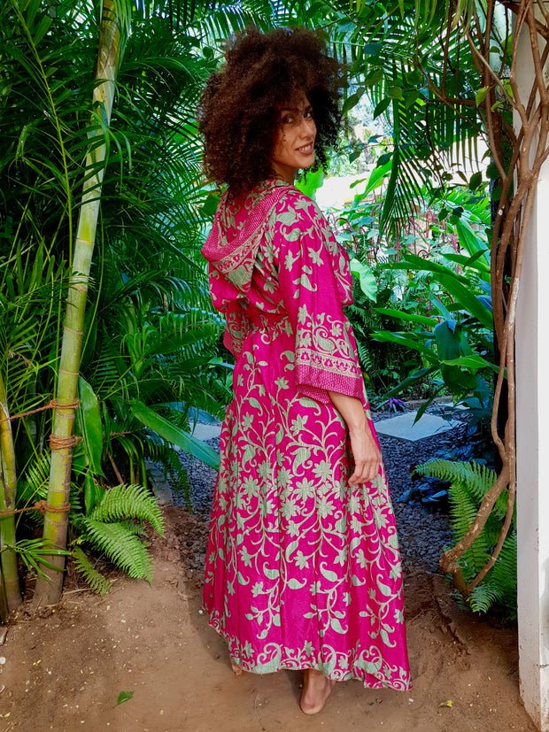 Beautiful Flowing Boho chic Kimono made from recycled fabrics. Mamma Nomad creates affordable fashion with Earth friendly and ethical values in mind.