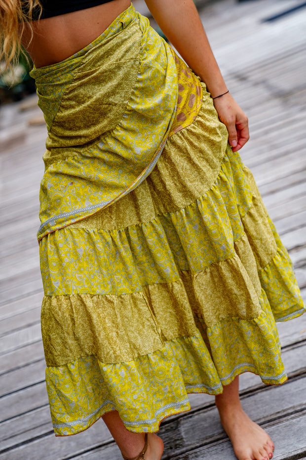 Wrap Around Gypsy Skirt ( with little stain )