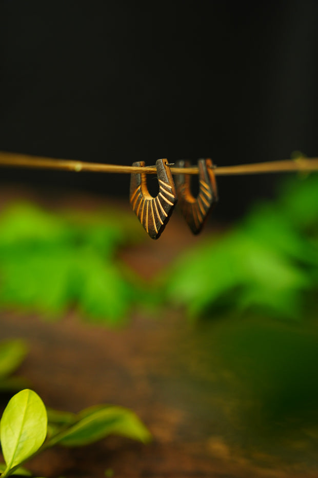 wooden Earrings 'langkah'