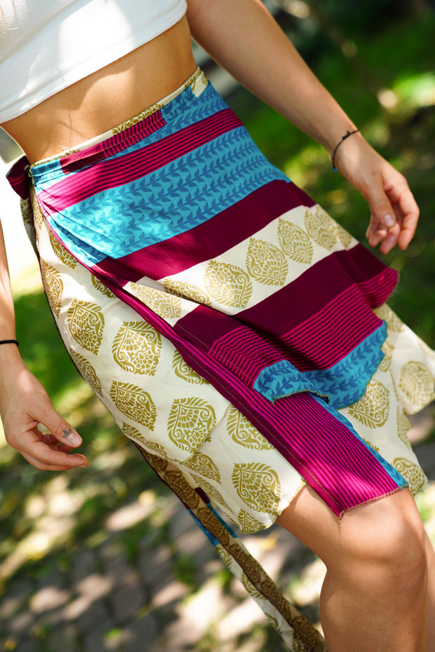 Mini Wrap Around Skirt 'Milleseya'