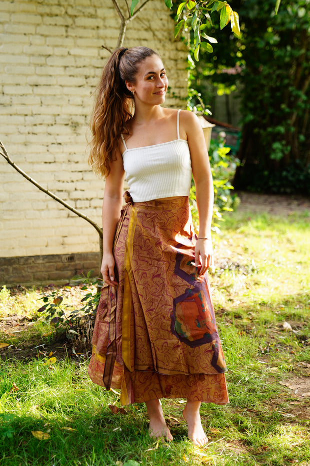 Long Wrap Around Skirt 'Milleseya'