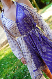 Dress 'Eunoia' with sleeves