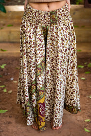Beautiful Bohemian style free flowing hippie pants. All our clothing is made from recycled fabrics. We create by ethical & environment friendly values.