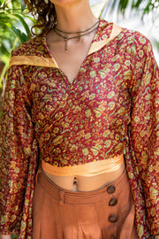 Mama Nomad. Created with sustainable and ethical values. These tops are made from recycled fabrics and therefor one of a kind. Ethical fashion in a Boho chic style.