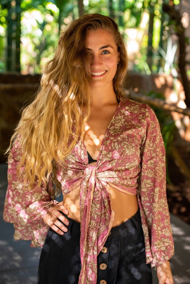 Mamma Nomad makes these out of recycled fabrics. Yet it is affordable. This Colourful Boho-Chic Tie-top is created by ethical values & environment friendly.