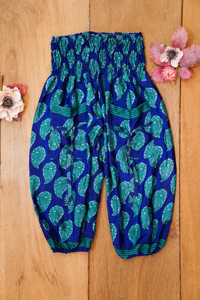 Cute harem pants made from recycled fabrics. Bohemian style for children's.  Mamma Nomad: Eco and Ethical friendly kids fashion for affordable prices.