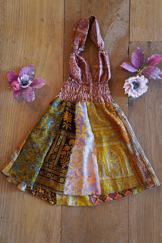Colorful Bohemian Children's Dress made from Eco friendly Fabrics Age 2