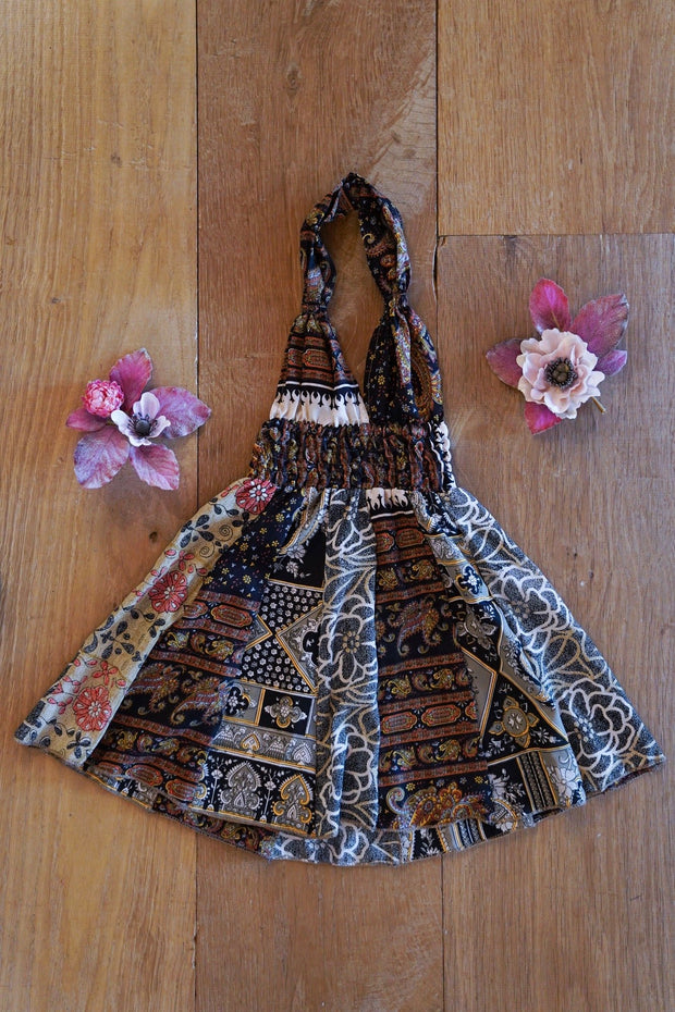 Black boho dress for children. Mamma Nomad: Sustainable yet affordable fashion