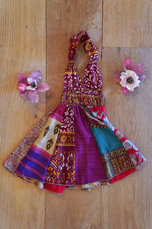 Little hippie dress for little girl. Made from recycled fabrics. Mamma Nomad: Eco friendly clothing for children and grown ups!
