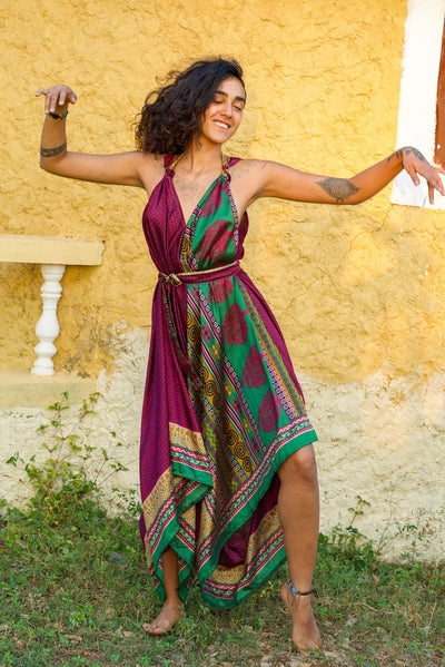 Beautiful Elegant Boho Chic Jumpsuit made from recycled fabric. Mamma Nomad. Eco-friendly Sustainable & Ethical clothing