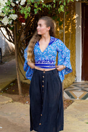 Beautiful Elegant Boho Chic Style top made from recycled fabrics by Mamma Nomad. Eco-friendly. Sustainable & Ethical clothing