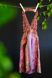Little hippie bohemian Children's dress, for toddler. Sustainable clothing for children. Mamma Nomad: Eco friendly fashion