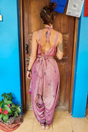 Colorful pink Jumpsuit made from recycled fabrics for all kinds of beautiful bodies. Plus sized to petite.Mamma Nomad: Bohemian eco-friendly fashion handmade with love.