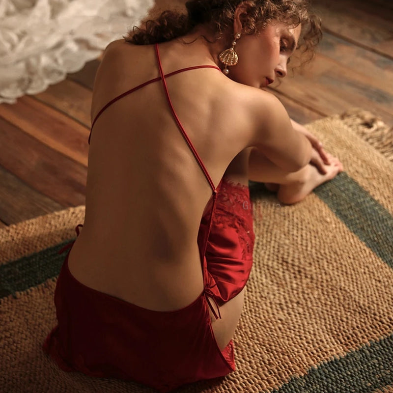 Siena's Backless Nightdress