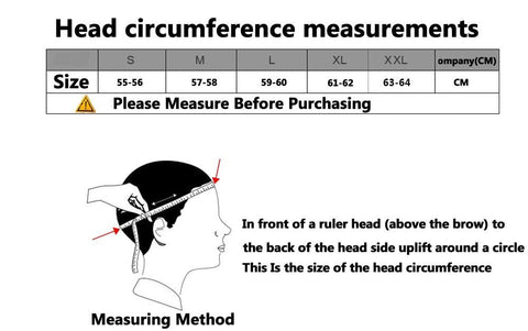 HELMET SIZE GUIDE OR CHART