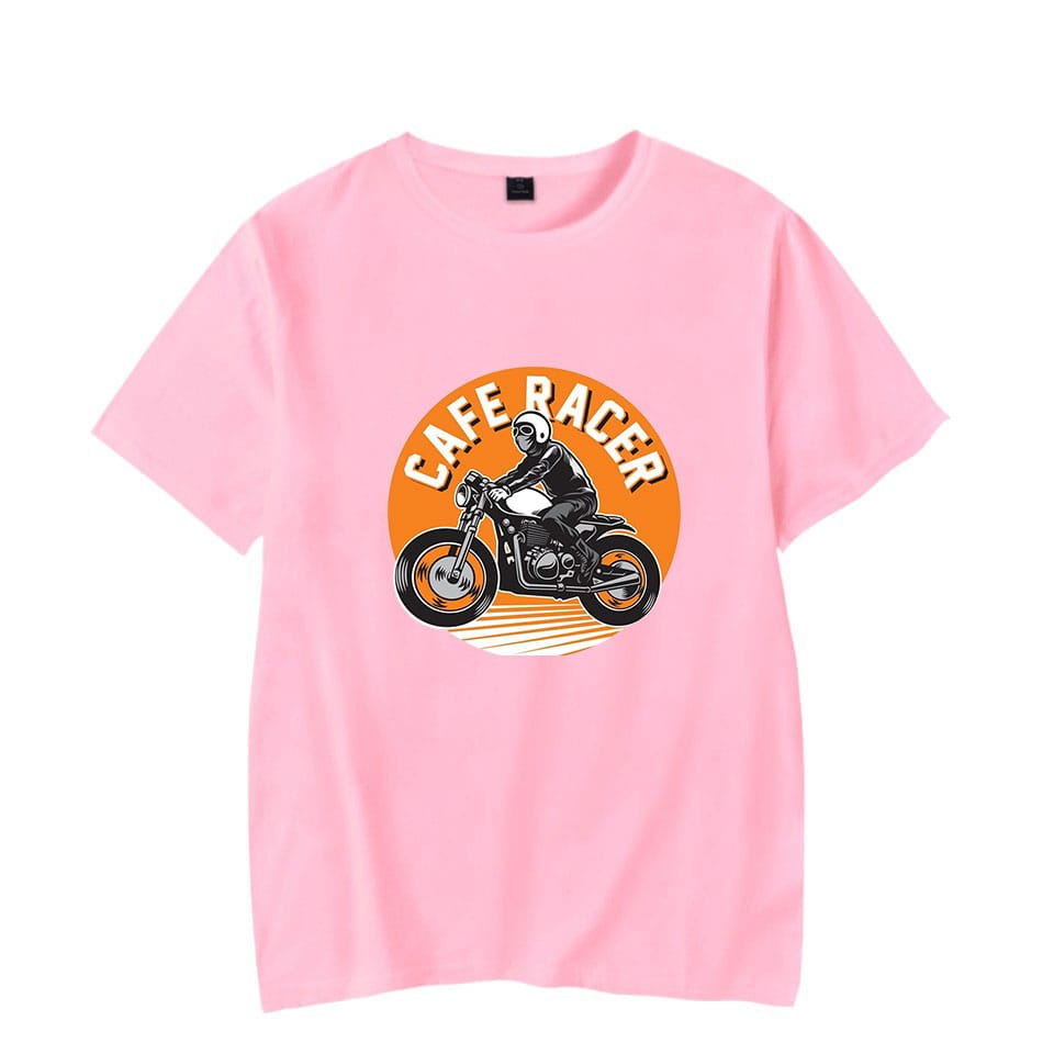 Caferacer Rider Short Sleeve Cotton T Shirt