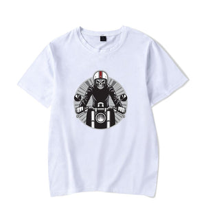 Caferacer Skull Rider Short Sleeve Cotton T Shirt
