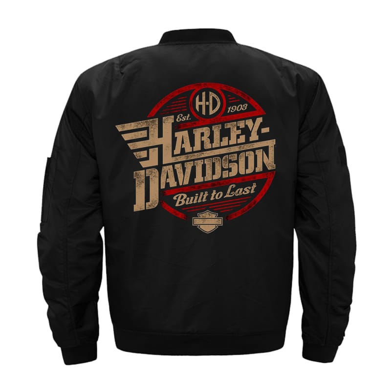 H-D Bomber Zipper Jacket