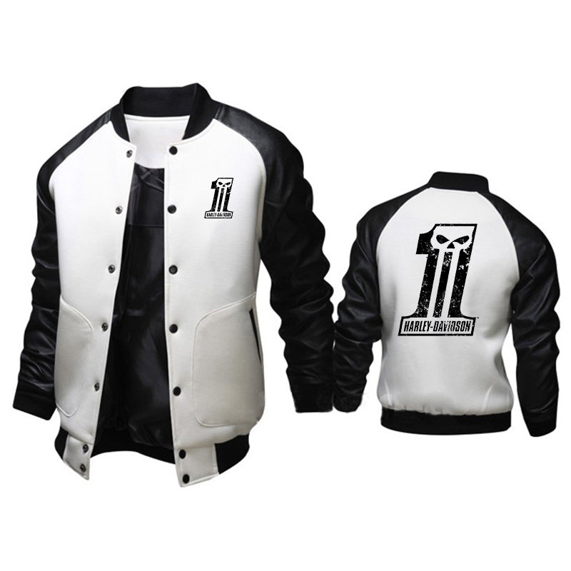 HD Punisher One Skull Logo British Style Jacket
