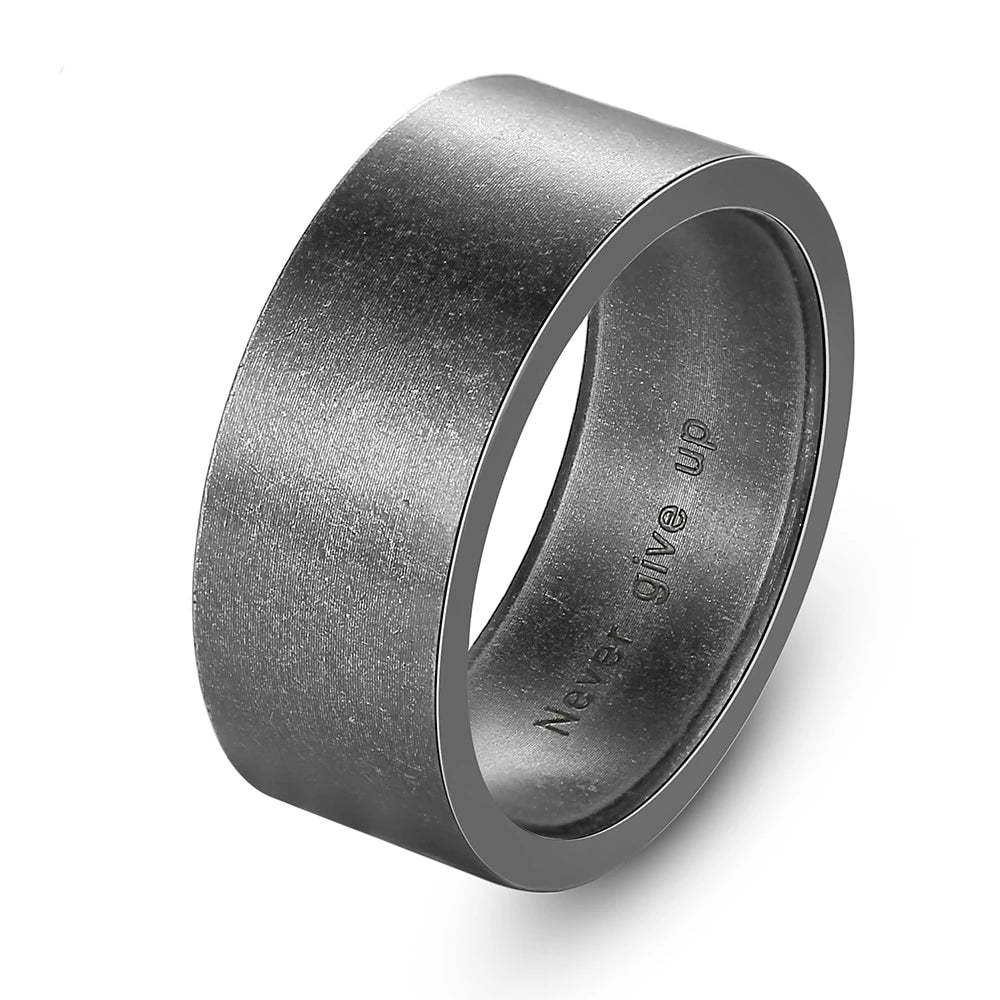 Titanium Steel Viking Punk Gothic Antique Simple Ring