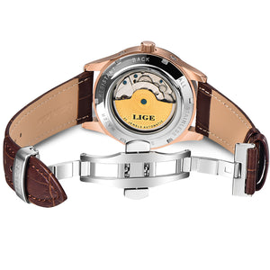 Mechanical Luxury Fashion Leather Belt Automatic Watch
