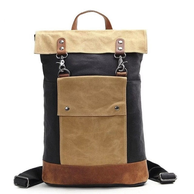 Canvas Army Style Vintage Backpack