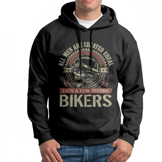 Thick Warm Cotton Bikers Print Hoodie