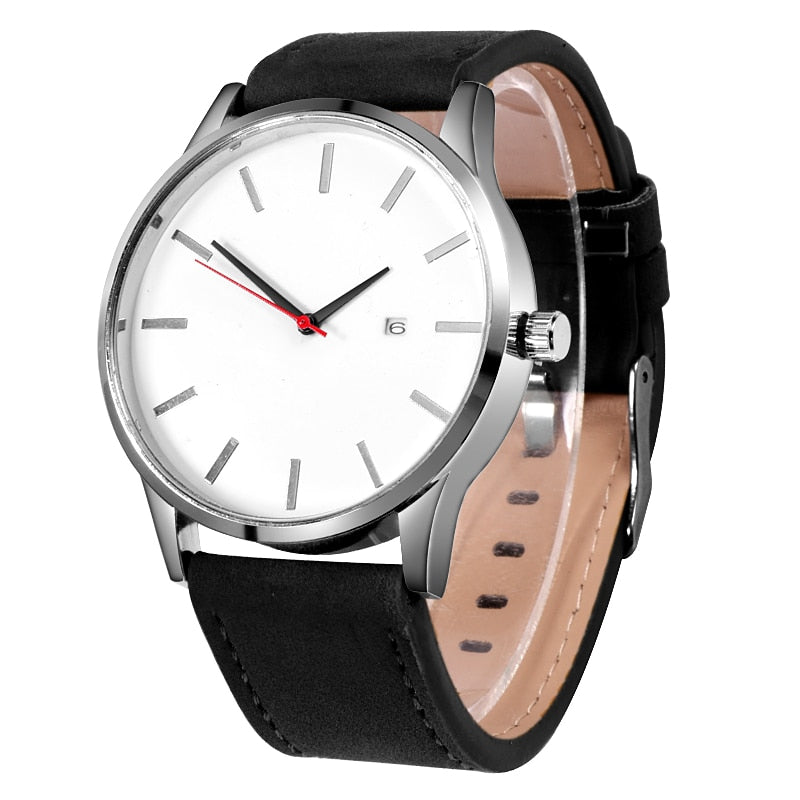 Simple Leather Strap Watch