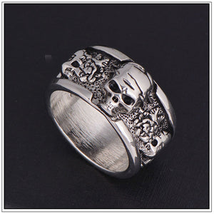 Viking Rock Roll Gothic Skull Ring