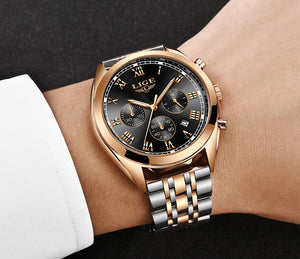 Multi Function Casual Steel Chain Watch
