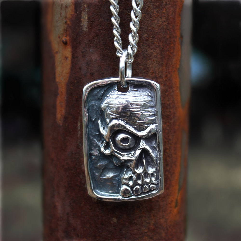 Anger Skull Pendant Necklace