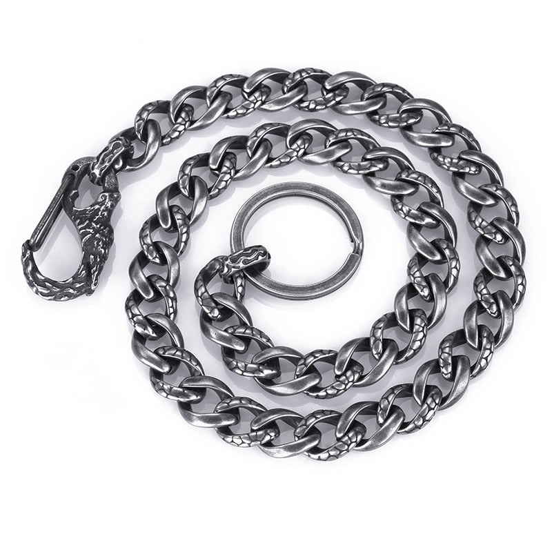 Steel Brushed Snake Chain Necklace