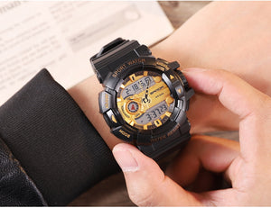 Analog & Digital Shock Resistant Rubber Strap Watch