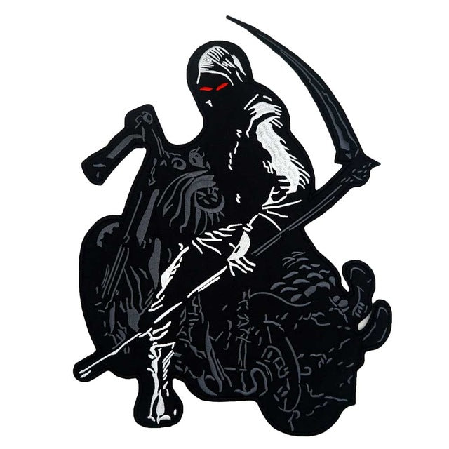 Death Skull Rider Embroidered Punk Biker Patche