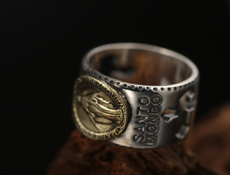 925 Silver Lord Jesus Christ Vintage Ring