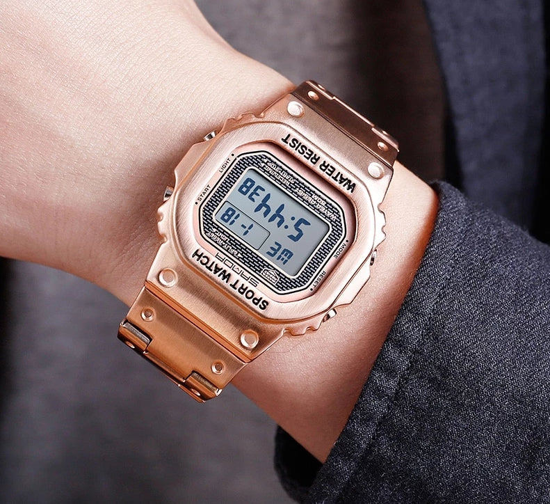 Square Dial LED Digital Unisex Watch