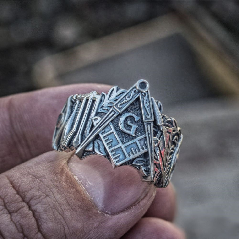 Freemason Masonic Symbol Ring