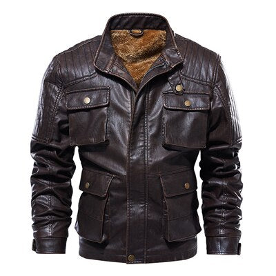 Thick Fleece Warm Motorcycle Jacket