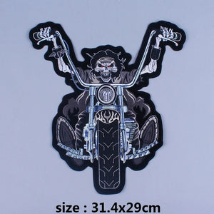 Death Skull Rider Iron On Biker Patches For Clothing
