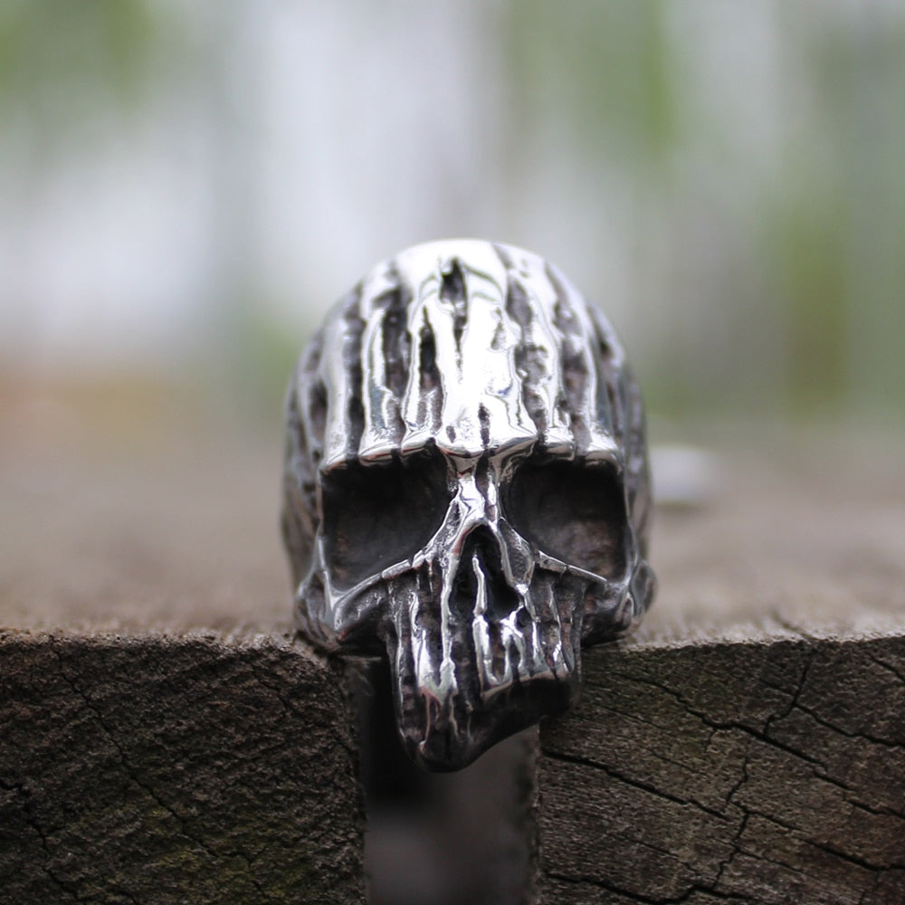 Vintage Decay Dead Wood Skull Ring