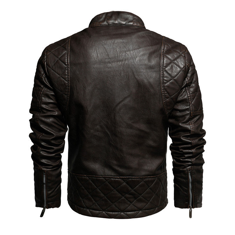 Casual Motorcycle Leather Jacket