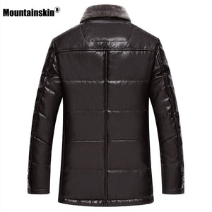Thick Leather Winter Fashion Warm Coat