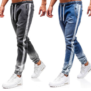 Fashionable Casual Denim Sports Washed Joggers
