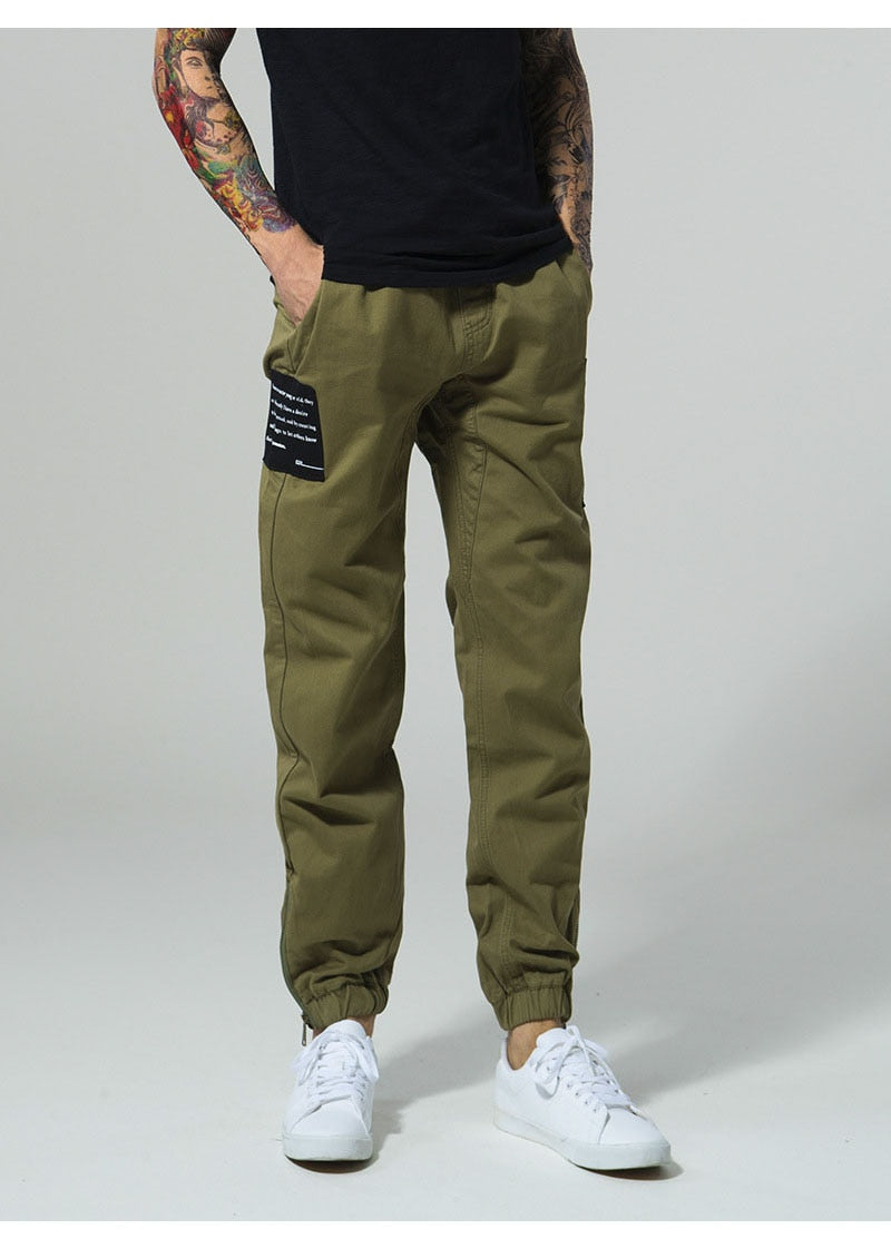 Side Patch Drawstring High Street  Fashion Joggers